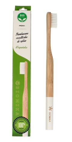 """Biomika Szczoteczka do zębów bambusowa miękka - białe włosie  1szt"""""""
