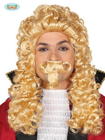 Blond peruka Markiz z wąsami