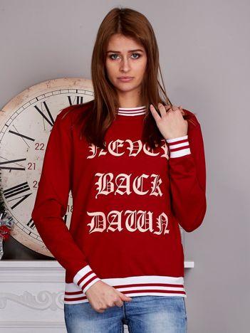 Bluza damska z gotyckim napisem czerwona