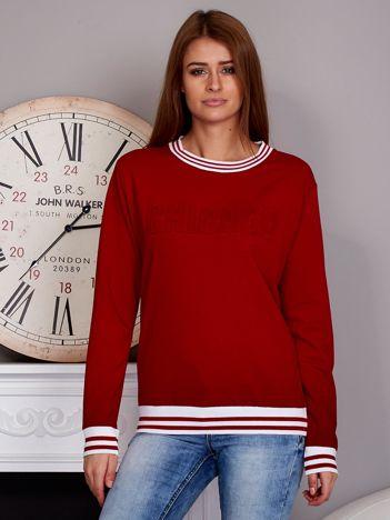 Bluza damska z napisem 3D czerwona