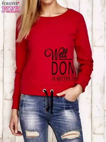 Bluza damska z napisem WELL DONE czerwona