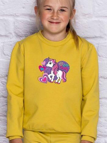 Bluza dla dziewczynki z motywem LITTLE PONY miodowa