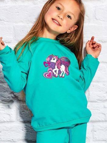 Bluza dla dziewczynki z motywem LITTLE PONY zielona