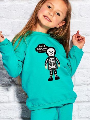 Bluza dziecięca z nadrukiem Halloween morska