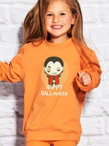 Bluza dziecięca z nadrukiem Hrabia Dracula pomarańczowa