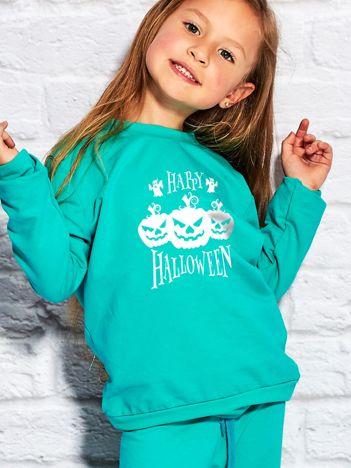 Bluza dziecięca z nadrukiem dyni Halloween morska