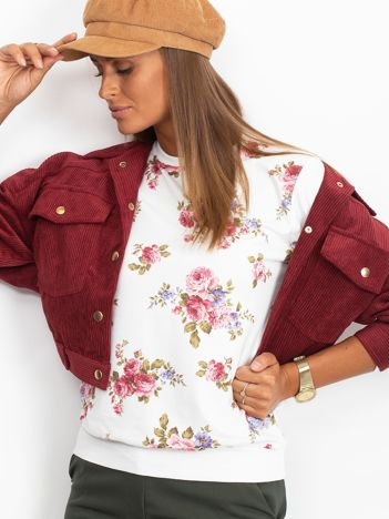 Bluza w różowe kwiaty