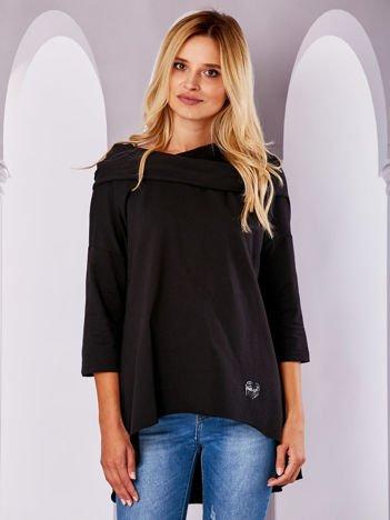 Bluza z szerokim dekoltem czarna