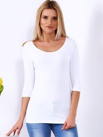 Bluzka biała ze sznurowanym dekoltem na plecach