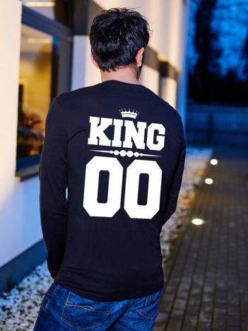 Bluzka czarna męska z napisem z tyłu KING dla par
