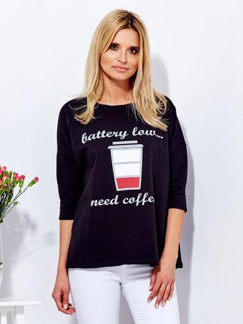 Bluzka czarna z kawą