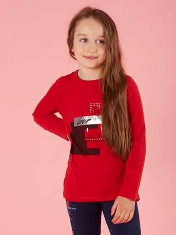 70dfa727a8 Bluzka dla dziewczynki z nadrukiem czerwona