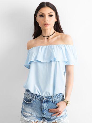 Bluzka hiszpanka jasnoniebieska