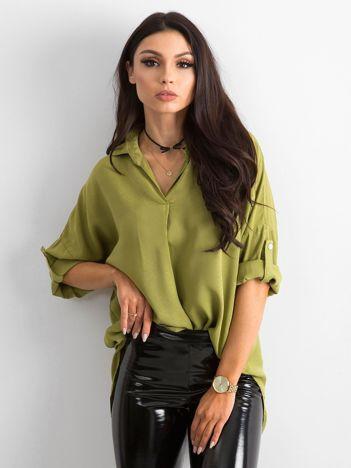 Bluzka koszulowa zielona
