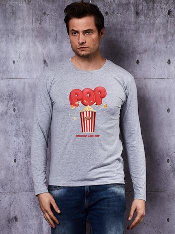 Bluzka męska POPCORN DELICIOUS & CRISP szara