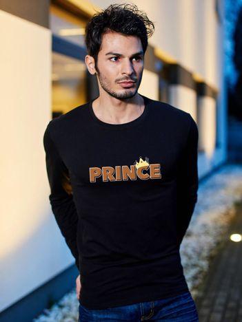 Bluzka męska czarna z napisem PRINCE dla par