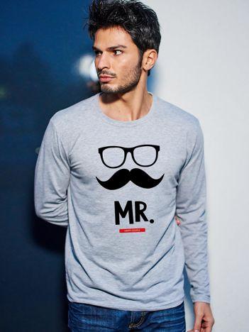 Bluzka męska hipster dla par MISTER szara