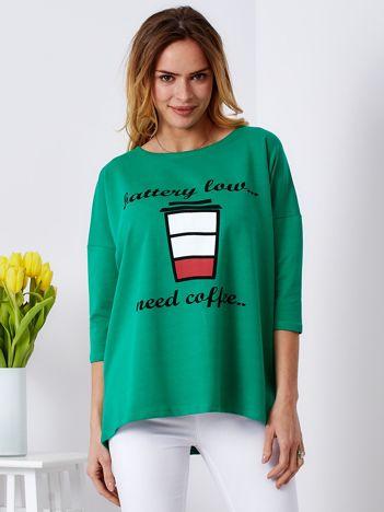 Bluzka zielona z kawą