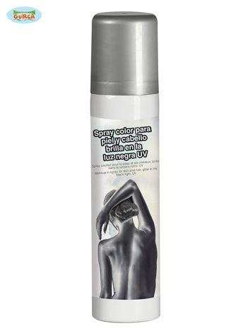Błyszczący spray do ciała srebrny