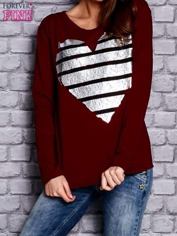 Bordowa bluza z sercem