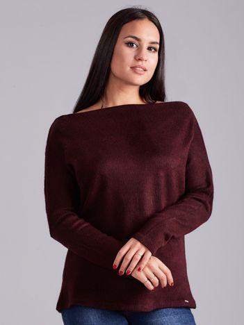 Bordowa bluzka w paski