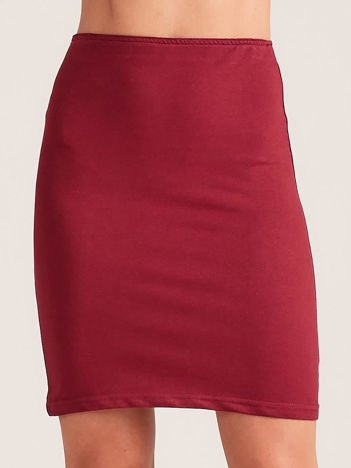 Bordowa dopasowana spódnica