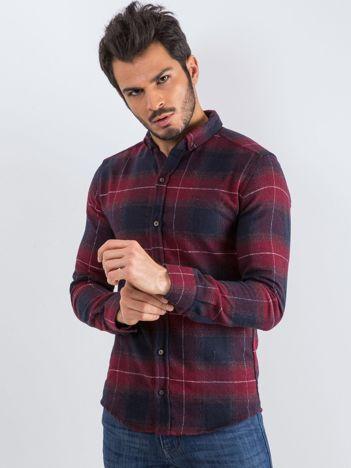 Bordowa koszula męska Esquire