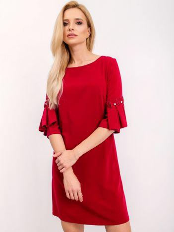 Bordowa sukienka Entice