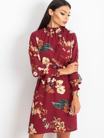 Bordowa sukienka Supply