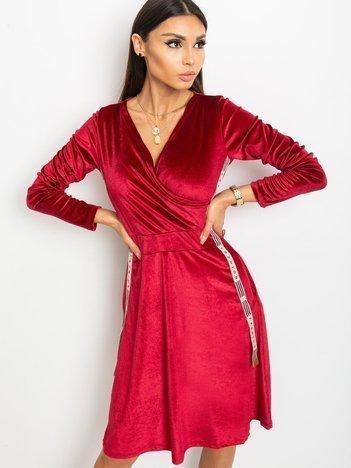 Bordowa sukienka Velvet