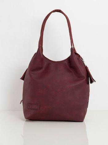 Bordowa torba z eko skóry