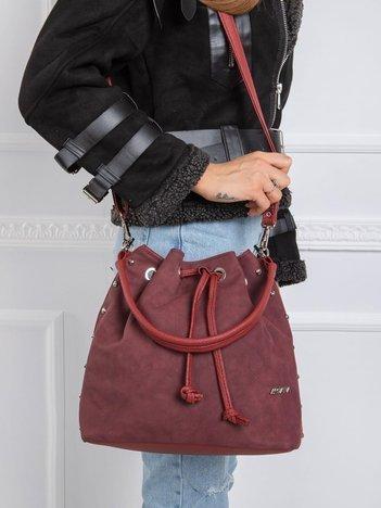 Bordowa torebka worek