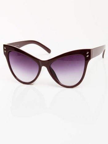 Bordowe przeciwsłoneczne okulary damskie CAT ELEGANT