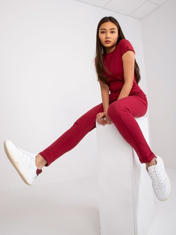 Bordowe spodnie Approachable