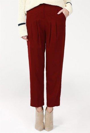 Bordowe spodnie BSL