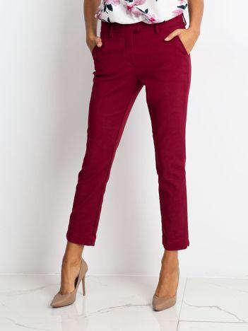 Bordowe spodnie Classy