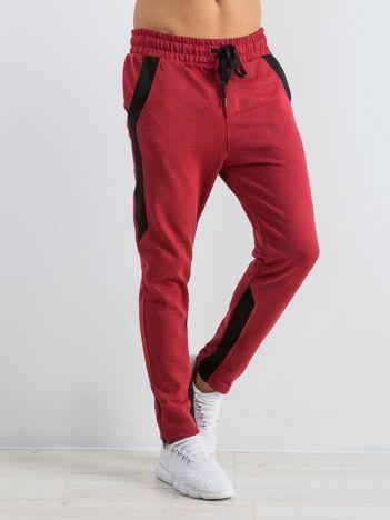 Bordowe spodnie dresowe męskie Durable