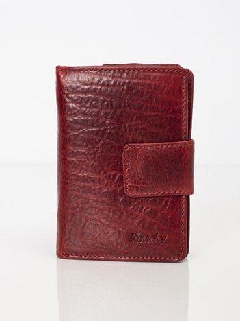 Bordowy portfel z naturalnej skóry
