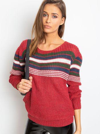 Bordowy sweter Attitiude