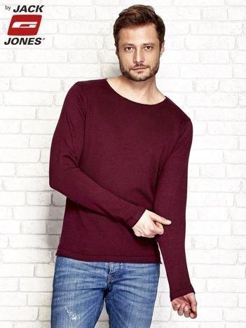 Bordowy sweter męski gładki