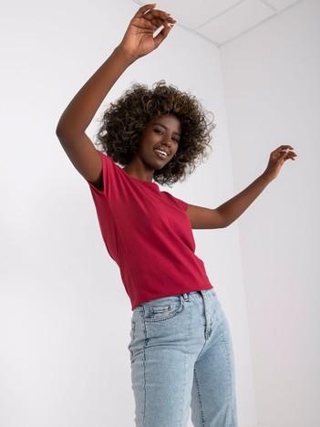 Bordowy t-shirt damski Circle