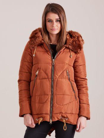 Brązowa damska kurtka na zimę
