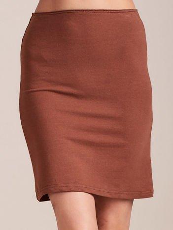 Brązowa dopasowana spódnica