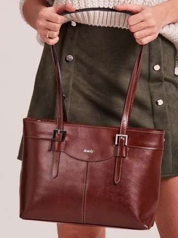Brązowa elegancka torebka za skóry