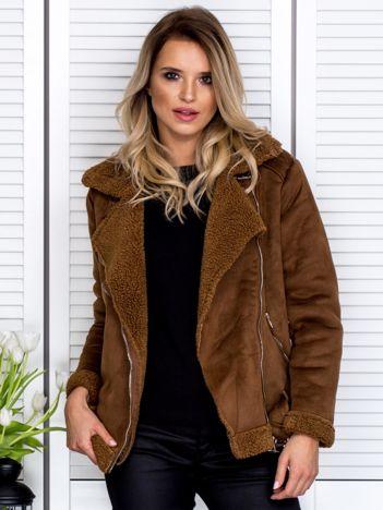 Brązowa kurtka z kożuszkiem