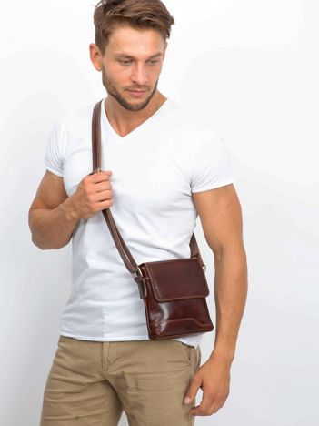 Brązowa męska torba listonoszka