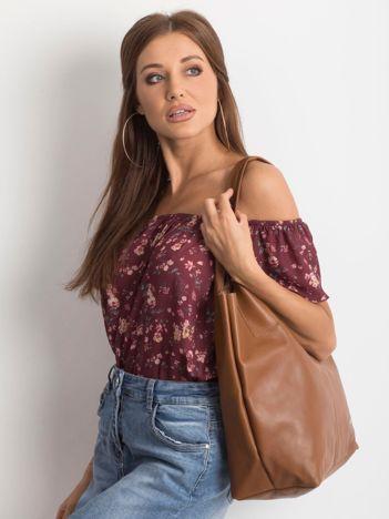 Brązowa miękka torba skórzana