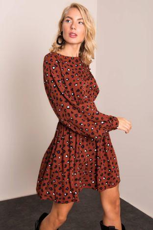 Brązowa sukienka BSL
