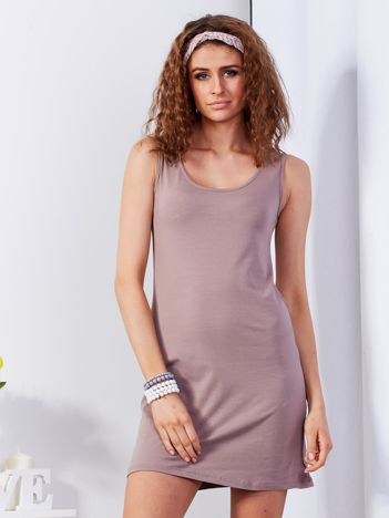 Brązowa sukienka cut out