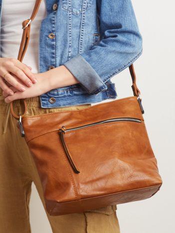 Brązowa torebka faux leather